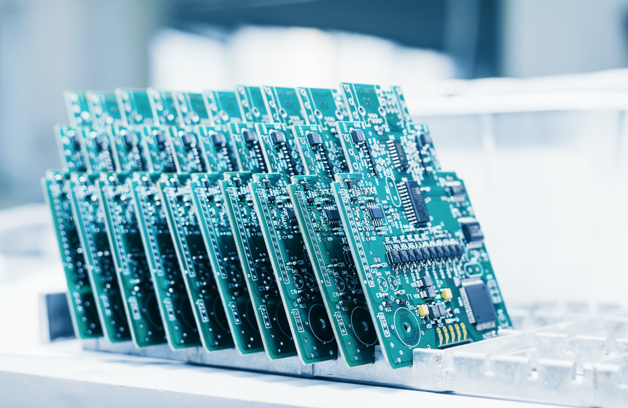 Series of Circuit Boards in Production